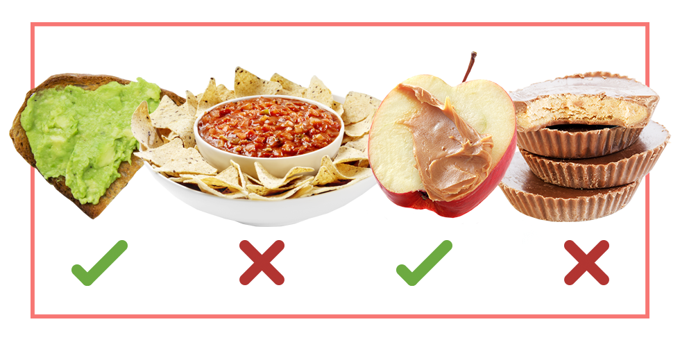 healthy snacking vs unhealthy snacking
