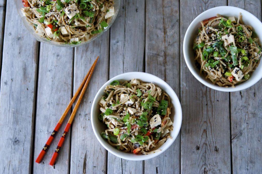 easy vegan sesame soba salad recipe
