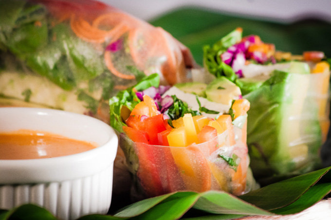 Peanut Sauce Vegan Summer Rolls Recipe for Guilt-Free Snacking