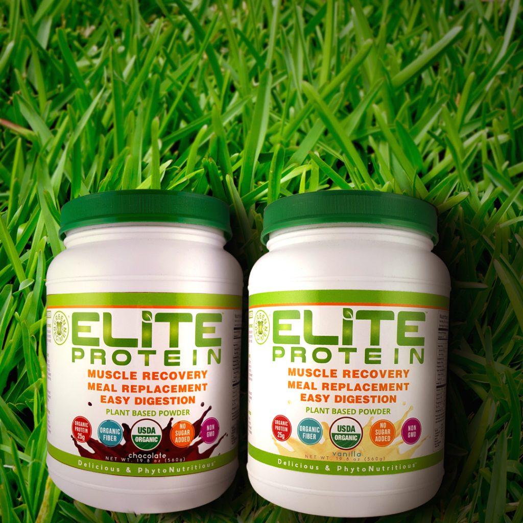 Elite Protein bottles plant-based diet