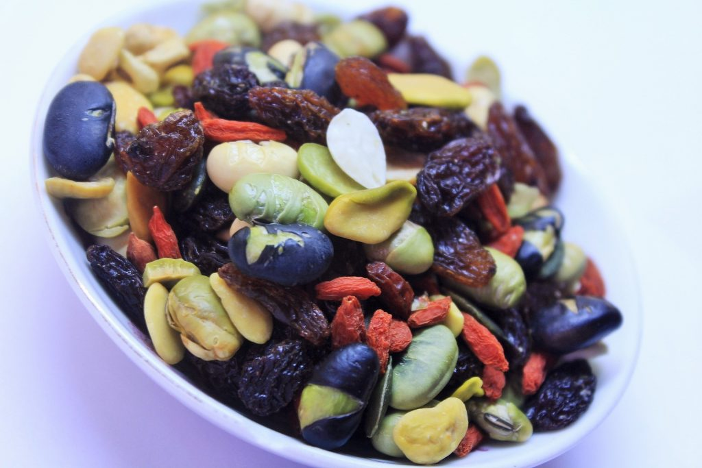 Mixed Nuts are very good examples of healthy snacks