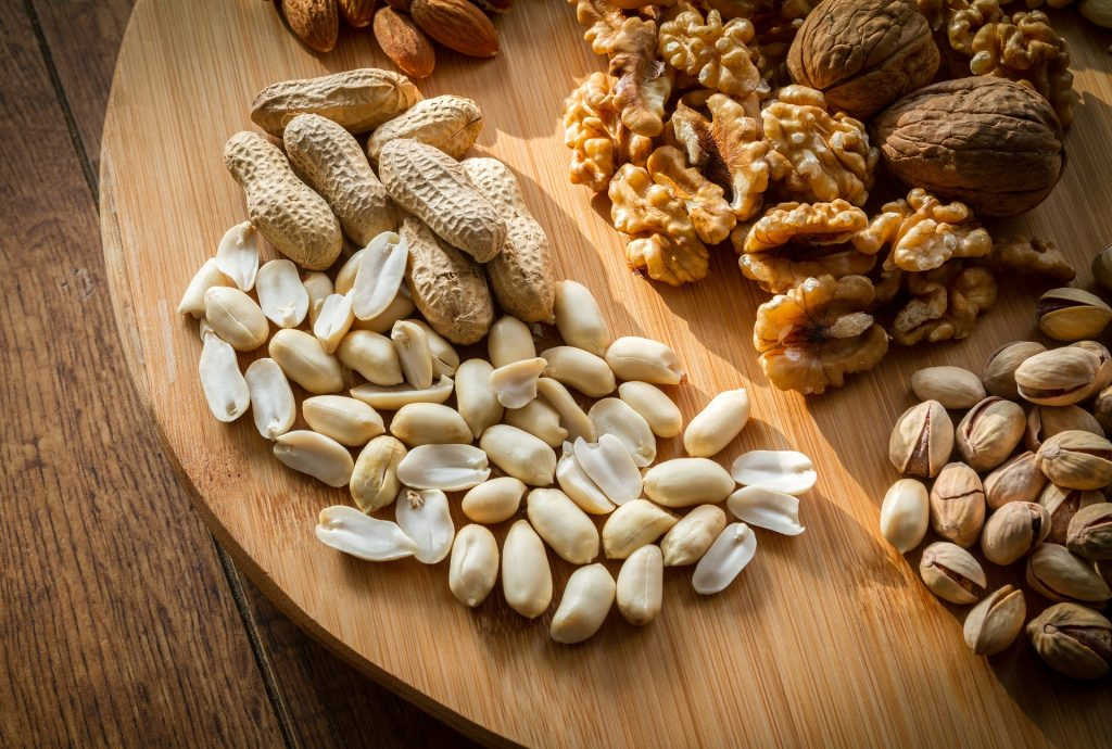 Mixed Nuts are good examples of healthy snacks
