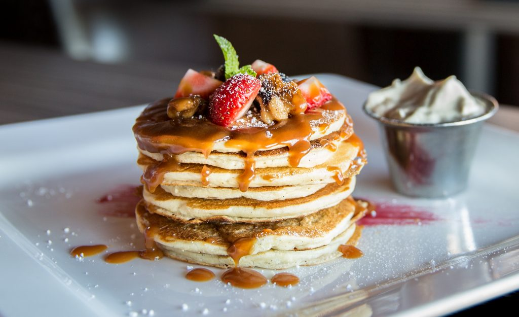 plant-based processed pancake