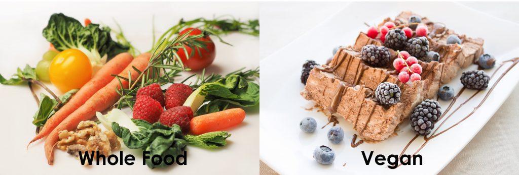 whole food vs vegan plant based diet