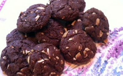 Chocolate Almond Lavender Cookies