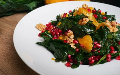 Festive Seasonal Pomegranate Kale Salad